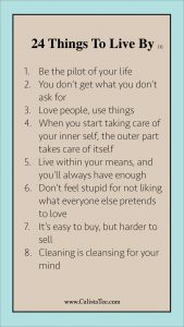 24 Things I Learned to Live By [1]