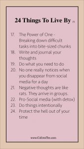 24 Things I Learned to Live By [3]